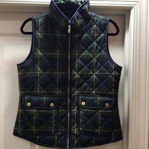 Max Studio plaid puff vest